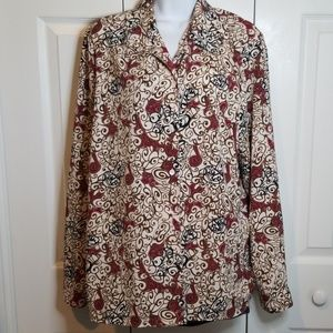 Claudia Richards Floral Button Up Blouse